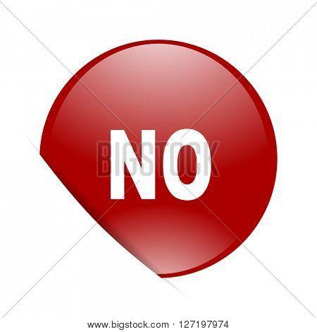 no red circle glossy web icon