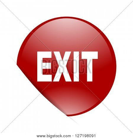 exit red circle glossy web icon