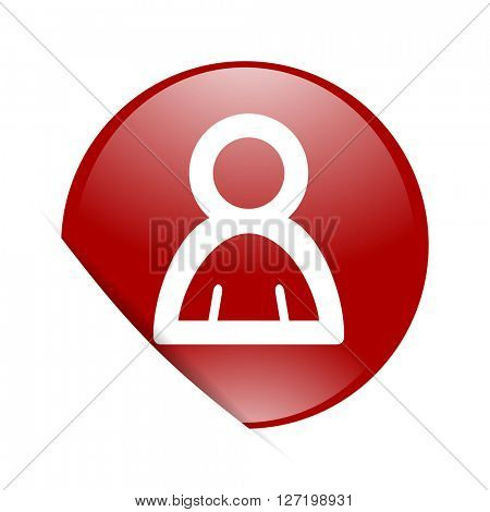 person red circle glossy web icon