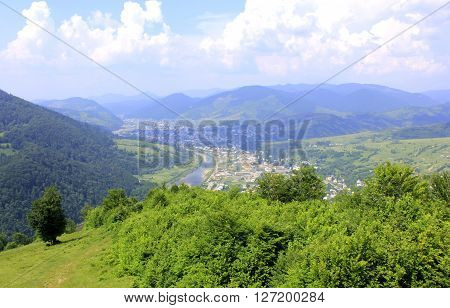 Nature. Picturesque Views Of The Carpathian Mountains In Ukraine