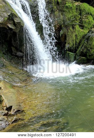 Nature. A Scenic View Of The Rivers And Lakes Of The Carpathian Mountains In Ukraine