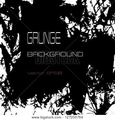 Grunge vector background with shards and wreckage monochrome black and white