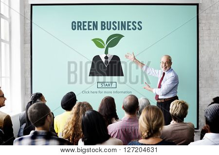 Green Business Responsibility Conservation Nature Concept