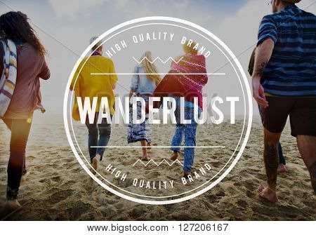 Wanderlust Travel Backpack Adventure Journey Concept