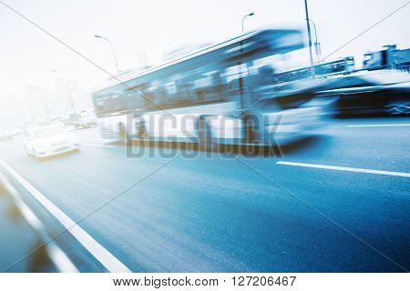 road traffic,motion blurred.