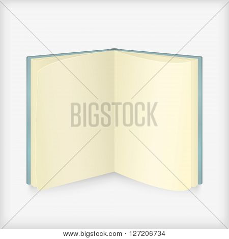 Open book on white background. Vector of open book. Isolated open book.