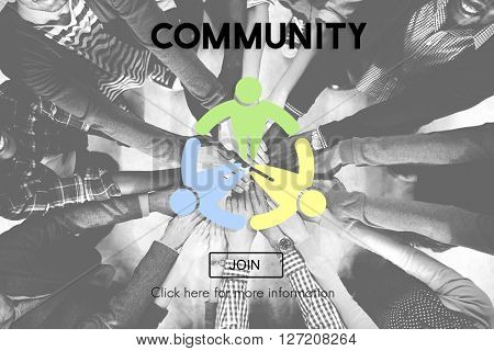 Community Social Group Network Society Concept