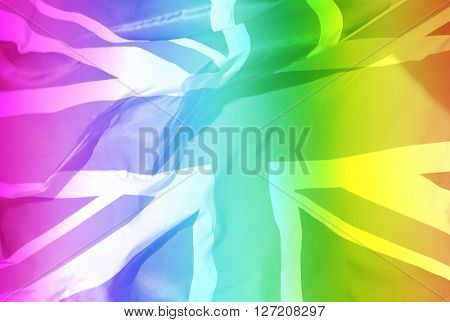 Union jack as a rainbow