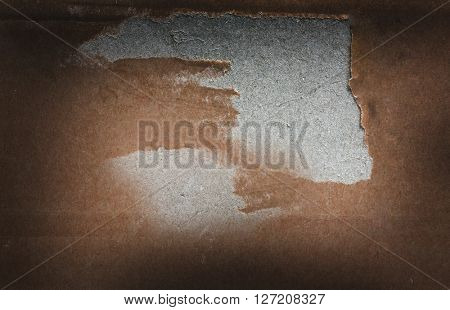 Cardboard background with space