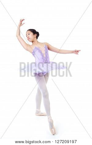 Young Asian Ballerina In Dance Pose