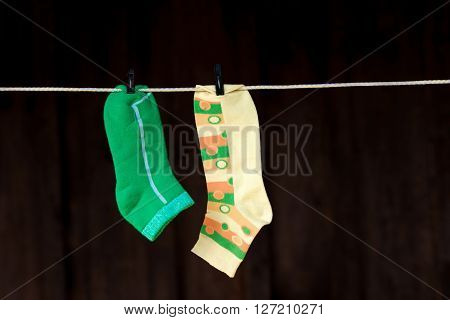 Socks On The Clotheline