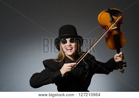 Woman in musical art concept