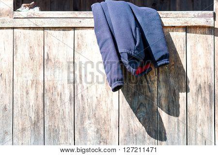 Jacket On Parapet