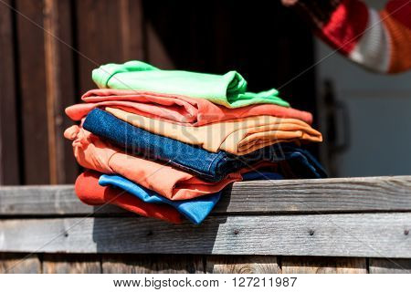 Stack Of Garment