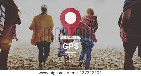 GPS Direction Electronic Guide Location Track Concept