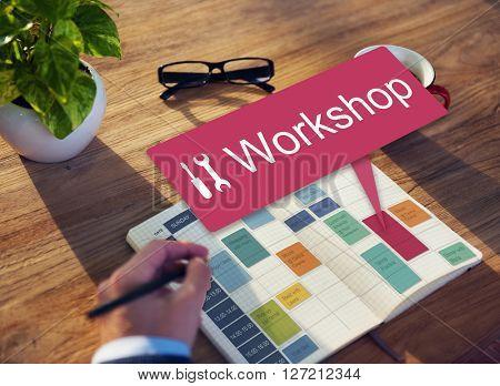 Workshop Work Tool Build Repair Concept
