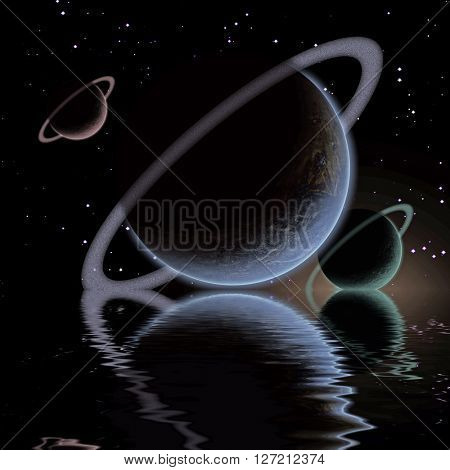 Waters reflection and Planets