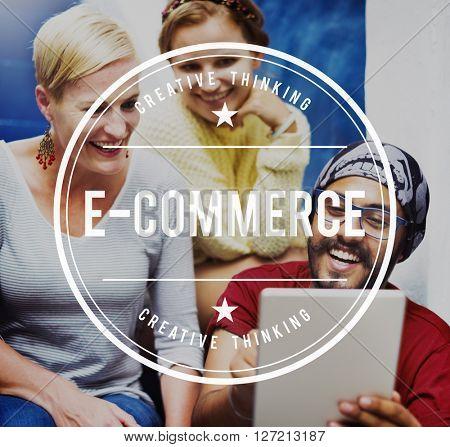 E-Commerce E-Business Internet Technology Concept