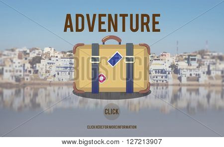 Adventure Backpacking Travel Destination Wander Concept