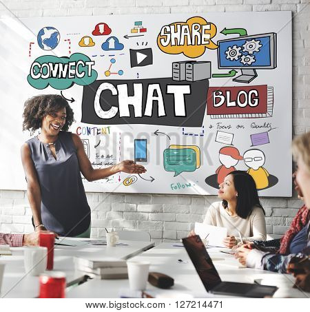 Chat Communication Social Networking Connection Concept