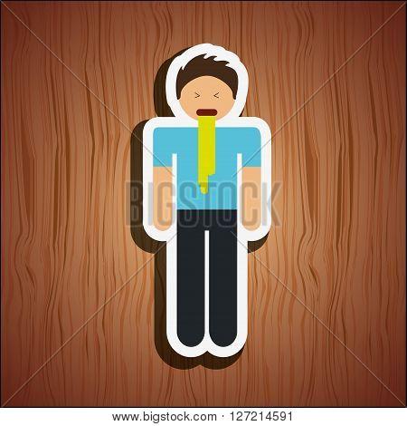 sick person design, vector illustration eps10 graphic