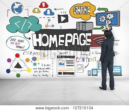 Homepage Layout Content Address Browser Concept