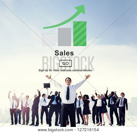 Sales Commerce Costs Income Profit Retail Concept