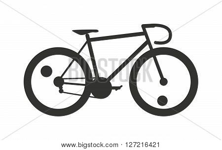 Classic sport bike silhouette pedal race vehicle vector illustration. Pedal race vehicle bike silhouette and leisure road speed bike silhouette. Sport bike silhouette extreme retro tour biking.