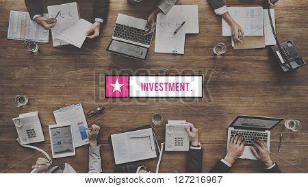 Investment Fund Money Venture Share Concept