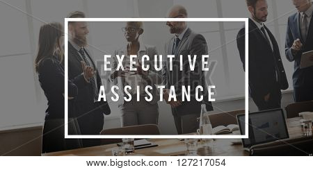 Executive Assistance Help Mentoring Support Concept