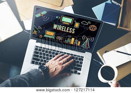 Wireless Technology Wifi Network Communication Concept