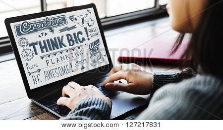 Think Big Attitude Believe Optimism Concept