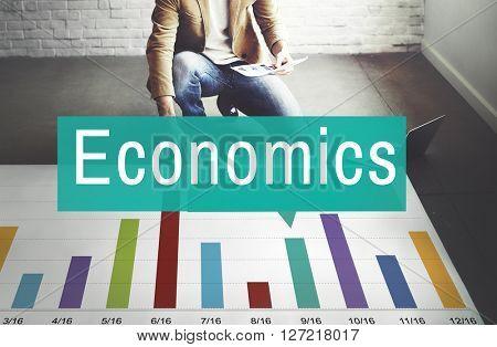 Economics Financial Growth Change Graph Concept