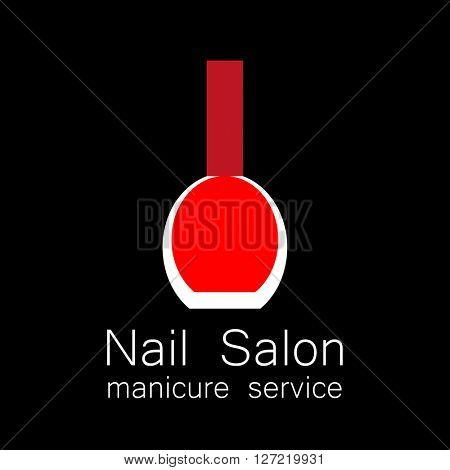 Nail Salon logo.  Symbol of manicure. Design sign nail care. Beauty industry, nail salon, manicure service, spa boutique, cosmetic products.