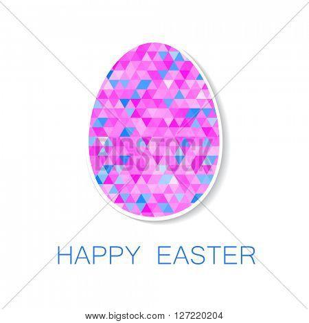 Happy Easter greeting card. Easter egg.  Easter egg isolated vector. Easter egg for Easter holidays design.