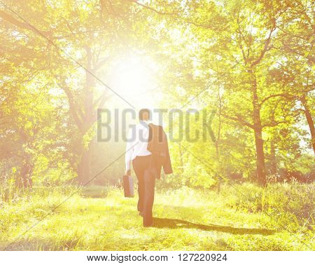 Businessman Natural Environmental Conservation Concept
