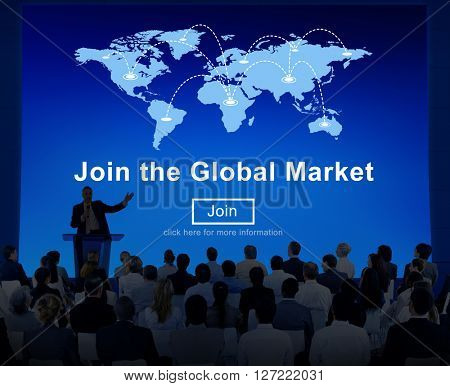 Join Global Market Campaign Commercial Digital Concept