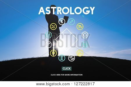 Astrology Astronomy Horoscope Fortune Telling Zodiac Concept