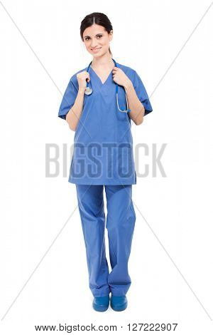 Friendly female doctor portrait