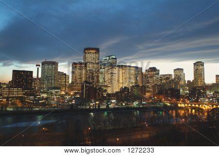 Calgary Downtown Evening