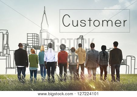 Customer Consumer Business Marketing City Concept