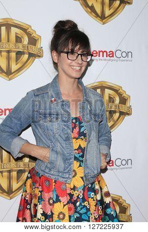 LAS VEGAS - APR 12: Katie Crown at the Warner Bros Presentation at CinemaCon at the Caesars Palace on April 12, 2016 in Las Vegas, CA