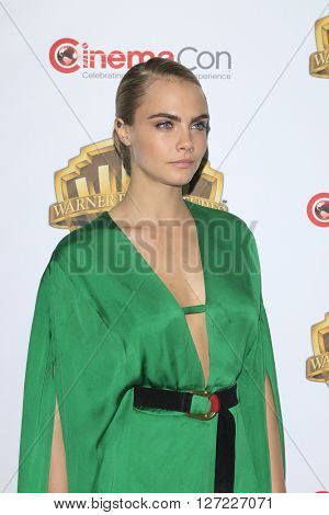 LAS VEGAS - APR 12:  Cara Delevigne at the Warner Bros. Pictures Presentation at CinemaCon at the Caesars Palace on April 12, 2016 in Las Vegas, CA