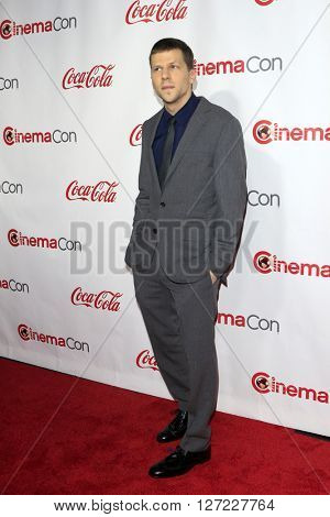 LAS VEGAS - APR 14:  Jesse Eisenberg at the CinemaCon Awards Gala at the Caesars Palace on April 14, 2016 in Las Vegas, CA