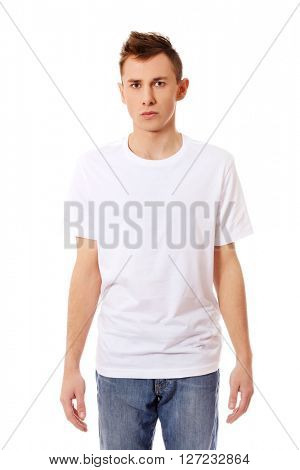 Young guy in white T-shirt