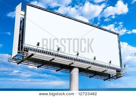 Mega-Plakat in den Himmel Blank