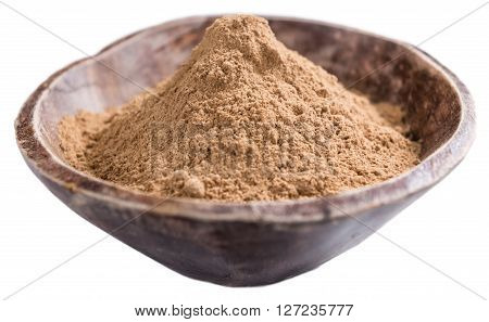 Galangal Powder Isolated On White