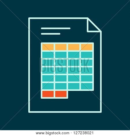 Spreadsheet Flat Web Icon