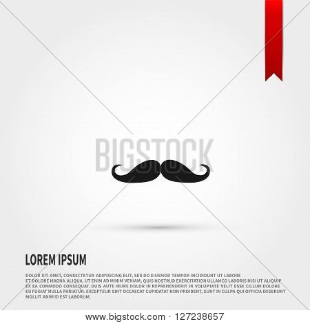 Mustache icon vector. Mustache icon JPEG. Vector illustration design element. Flat style design icon.