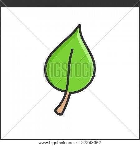 Leaf icon. Eco concept. Gardening icon illustration